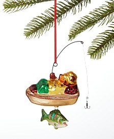 Holiday Lane Lodge Bear Fishing Ornament, Created for Macy's