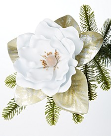 Midnite Blue Tea Party White Flower Ornament, Created for Macy's