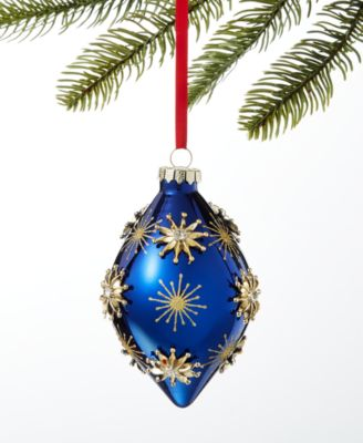 Midnight Blue Glass Drop Ornament, Created for Macy's