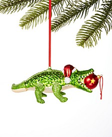 Florida Christmas Alligator Ornament, Created for Macy's