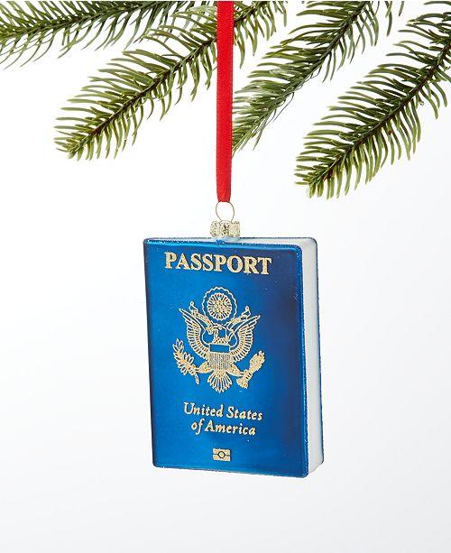 Holiday Lane World Traveler Passport Book Ornament, Created for Macy's