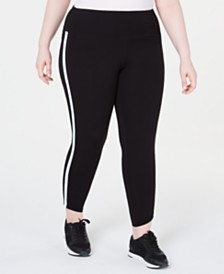 Calvin Klein Performance Plus Size Striped Leggings