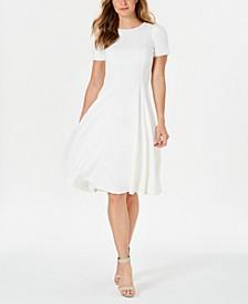 Crewneck Fit & Flare Dress