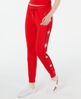 Star-Trim Cuffed Jogger Pants