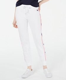 Tommy Hilfiger Sport Star-Trim Cuffed Jogger Pants