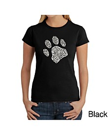Women's Word Art T-Shirt - Dog Paw