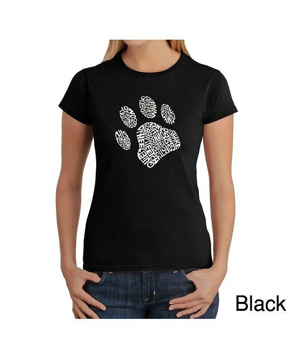 LA Pop Art Women's Word Art T-Shirt - Dog Paw