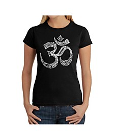 Women's Word Art T-Shirt - Poses Om