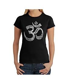 Women's Word Art T-Shirt - Poses Om