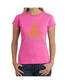 Women's Word Art T-Shirt - Inhale Exhale