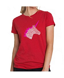 Women's Premium Word Art T-Shirt - Unicorn