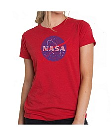 Women's Premium Word Art T-Shirt - Nasa's Most Notable Missions