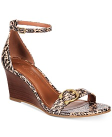 COACH Odetta Wedge Sandals