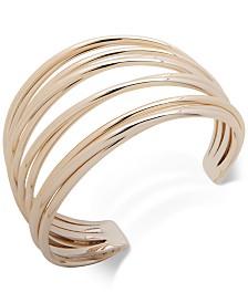 Lauren Ralph Lauren Gold-Tone Multi-Row Cuff Bracelet