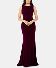 Betsy & Adam Ruffle-Back Gown