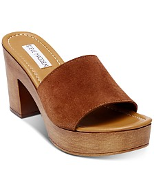 Steve Madden Women's Fran Wooden Platform Sandals