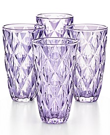 CLOSEOUT! Purple Diamond Highball Glasses, Set of 4, Created for Macy's