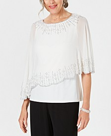 Embellished Chiffon-Overlay Top, Created for Macy's