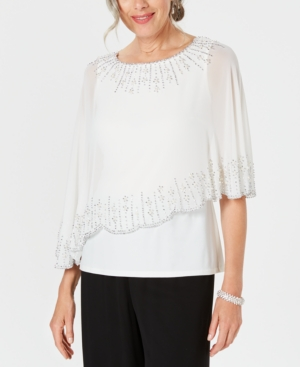Image of 28th & Park Embellished Chiffon-Overlay Top, Created for Macy's