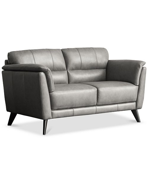 Awe Inspiring Lucais 68 Leather Loveseat Created For Macys Bralicious Painted Fabric Chair Ideas Braliciousco