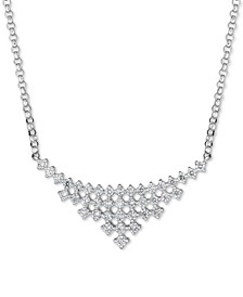 Diamond Collar Statement Necklace (3/4 ct. t.w.) in 14k White Gold