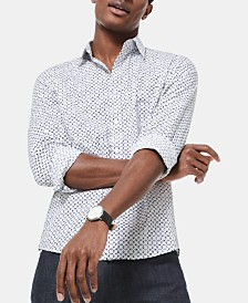 Michael Kors Men's Slim-Fit Stretch Tile-Print  Shirt