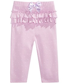 First Impressions Baby Girl Pindot Leggings, Created for Macy's