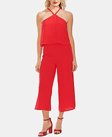 Wide-Leg Halter-Neck Jumpsuit
