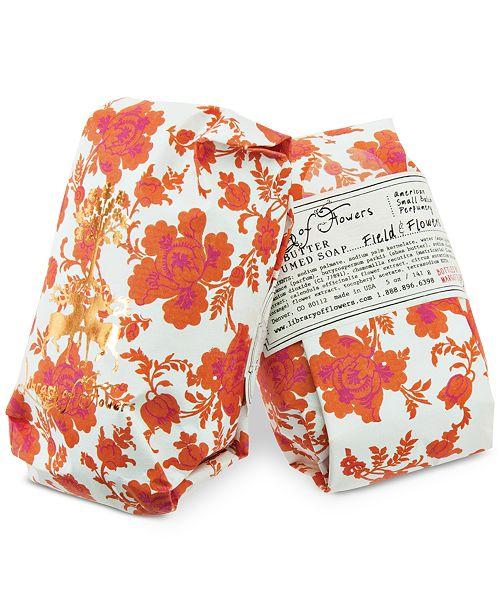 Library of Flowers Field & Flowers Soap, 5-oz.