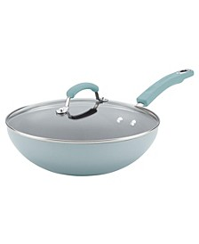 "Hard Enamel 11"" Covered Stir Fry"