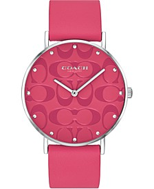 Women's Perry Pink Leather Strap Watch 36mm, Created for Macy's