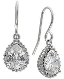 Giani Bernini Cubic Zirconia Pear-Shape Drop Earrings in Sterling Silver, Created for Macy's