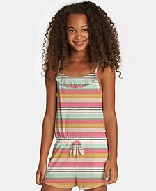 Big Girls Only One Striped Romper