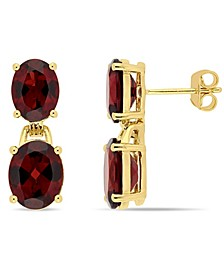 Garnet (10 ct. t.w.) Dangle Earrings in 18k Yellow Gold over Sterling Silver