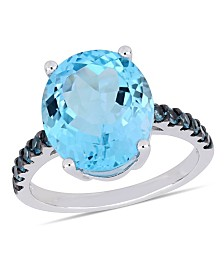 Blue Topaz (10-1/2 ct.t.w.) Ring in Sterling Silver