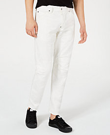 G-Star RAW Men's Tapered White Moto Jeans
