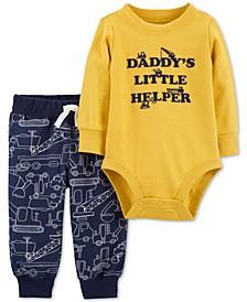 Baby Boys 2-Pc. Bodysuit & Jogger Pants Cotton Set