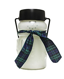 Holly Tree Baby Snowman Jar Candle