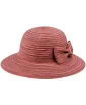 683e0753 Angela & William Poly Braid Bucket Sun Hat with Ribbon