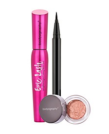 Liquid Liner, Glitter Eye shadow, Mascara Bundle