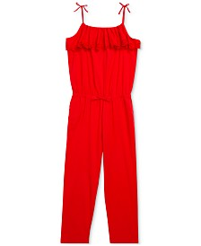 Polo Ralph Lauren Big Girls Eyelet Cotton Batiste Jumpsuit