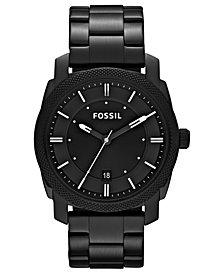 Fossil Men's Machine Black Tone Stainless Steel Bracelet Watch 42mm FS4775