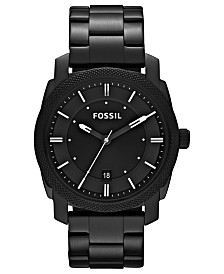 Fossil Men's Machine Black Tone Stainless Steel Bracelet Watch 42mm FS4775