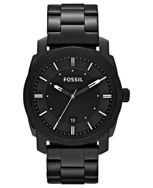 b1c7fb46f272d ... Fossil Men s Machine Black Tone Stainless Steel Bracelet Watch 42mm  FS4775 ...