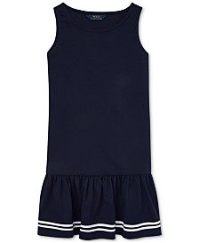 Polo Ralph Lauren Big Girls Ponte Sailor Dress