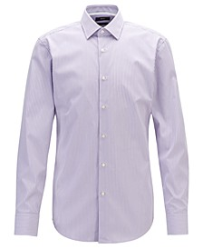 BOSS Men's Jesse Slim-Fit Striped Cotton Shirt