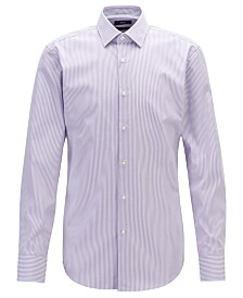 BOSS Men's Jesse Slim-Fit Striped Cotton Shirt