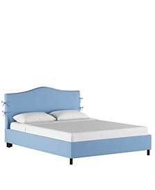 Low Profile Brooks Slipcover Full Platform Bed, Quick Ship