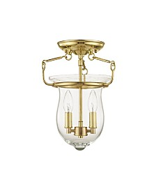 CLOSEOUT! Livex   Canterbury 2-Light Ceiling Mount