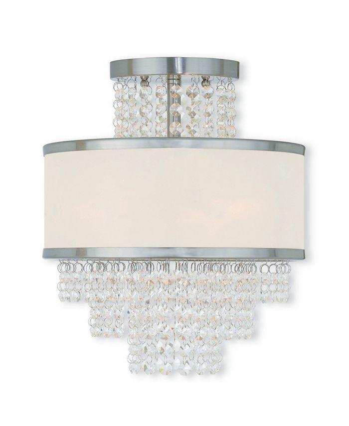 "Livex - Prescott 3-Light 13.375"" Ceiling Mount"
